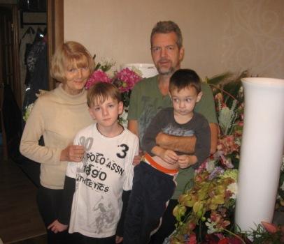Мама, Тима и Матвей